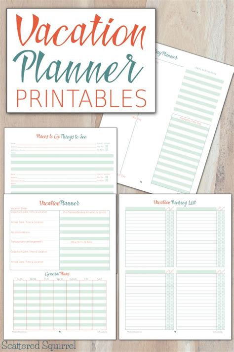 printable travel budget planner vacation planner printables vacation planner breeze and