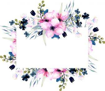 Blue Pink 7707 Size 27 30 floral border vectors photos and psd files free