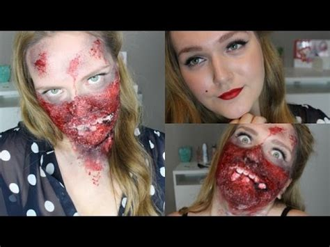 zombie girl makeup tutorial halloween makeup tutorial pin up zombie girl einfach