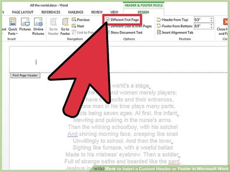 design header footer word document 4 ways to insert a custom header or footer in microsoft word