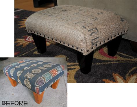 Footstools Ottomans Diy Coffee Sack Ottoman Burger
