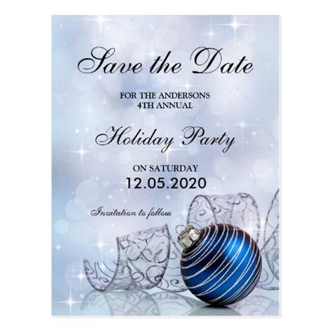 save the date holiday party free template and save the date template postcard zazzle