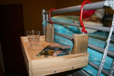 bunk bed night stand how to make a quot flying night stand quot for the top bunk of