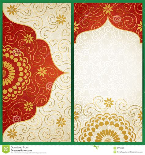 wedding card background templates vintage cards with flowers and curls stock illustration