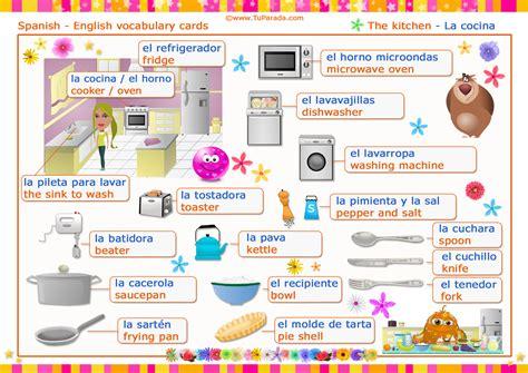 vocabulario ingles cocina vocabulario espa 241 ol ingl 233 s la cocina the kitchen