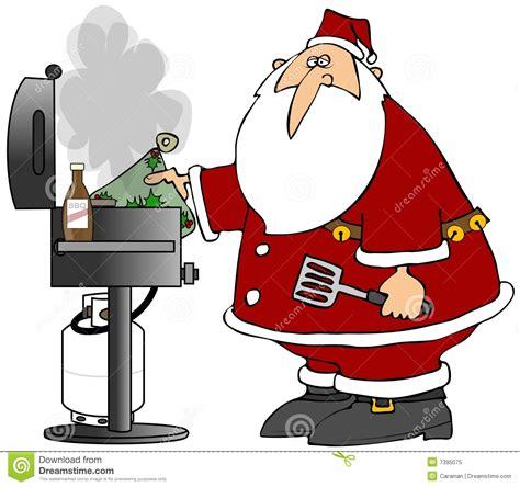 bq christmas bbq santa stock illustration illustration of illustration 7395075