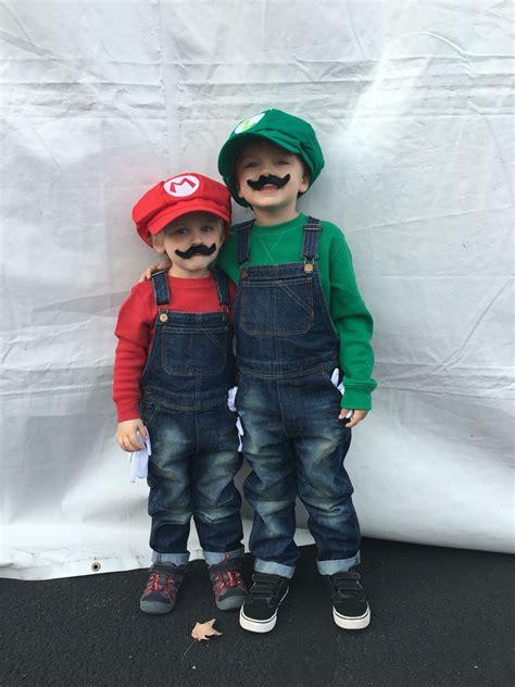 childrens costumes mario  luigi halloween