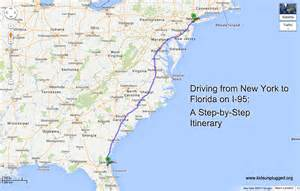 New York To Florida Map by Driving From New York To Florida A Step By Step