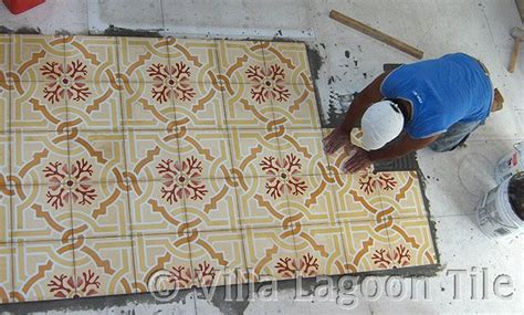 Tile Floor Designs For Bathrooms how to install cement tiles villa lagoon tile