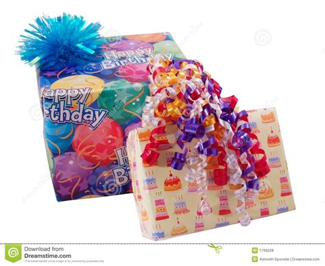 birthday presents stock photo image of purple boxes