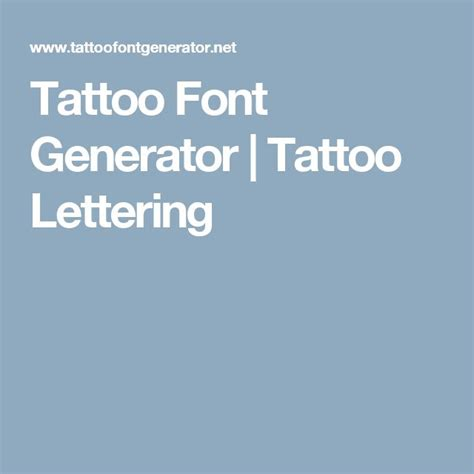 tattoo fonts maker online 25 best ideas about lettering generator on