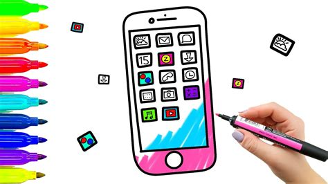 how to a mobile phone color mobile phone coloring book and drawing for