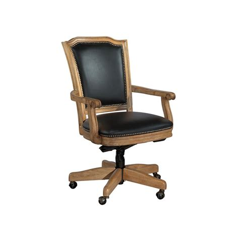 black leather and wood office chairs hekman 7 9257b home office wood frame black leather office