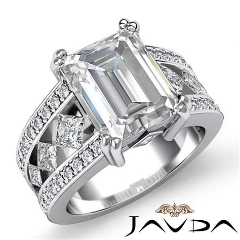luminescent emerald cut engagement ring f
