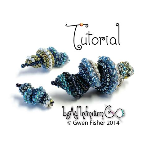 gwenbeads: New Tutorial    Snail Shells & Twisty Bits, Beaded with Peyote Stitch and Cellini Spiral