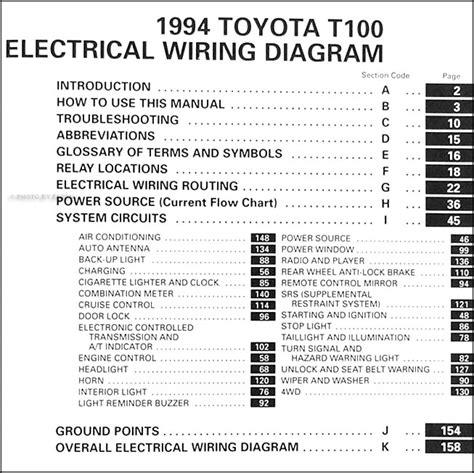 auto repair manual free download 1995 toyota t100 xtra regenerative braking 1994 toyota t100 truck wiring diagram manual original