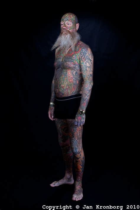 man covered in tattoos the most tattooed in denmark almost entire