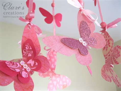 How To Make Paper Butterfly Mobile - paper butterfly mobile tutorial image search results
