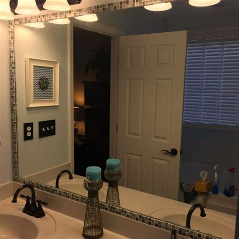 tile framed bathroom mirror 31 ideas of using mosaic tile around bathroom mirror
