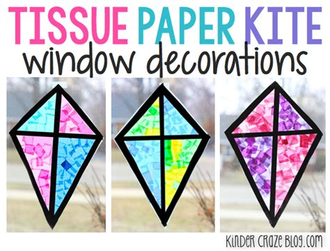 Paper Kites - stained glass kite decorations made from tissue paper