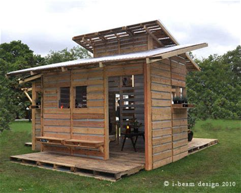 build a house free the pallet house by i beam design costs only 75 and uses