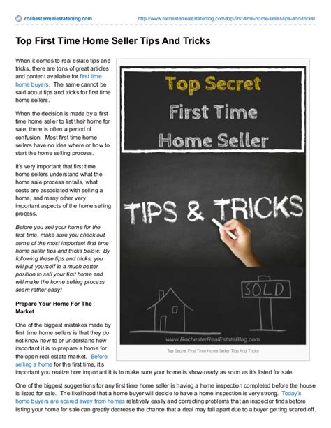 first time home seller 6 tips and tricks for selling how to sell a home for the first time