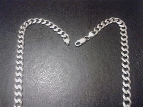 cadenas de plata hombre chile cadena de plata 925 hombre modelo grumet 61 94 gramos