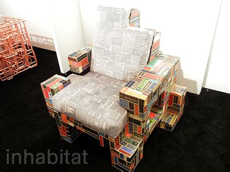 libro chairs by architects brc designs spineless chair is adorned with the spines of old books inhabitat green design