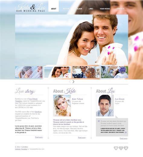 Kostenlose Vorlage Hochzeit Website Vorlage 51597 F 252 R Hochzeit