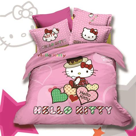 hello kitty full size comforter set pink hello kitty bedding set in twin and full size 3pcs
