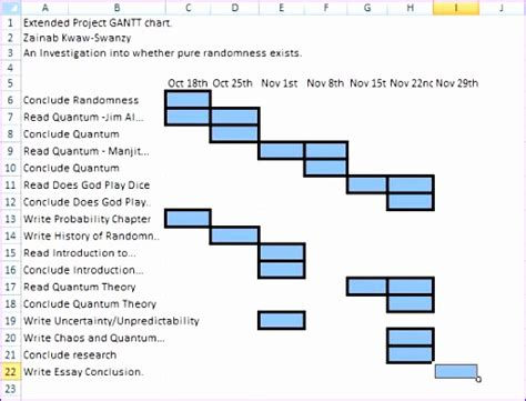 Exle Research For Mba Dissertation by 14 Template Excel Project Timeline Exceltemplates