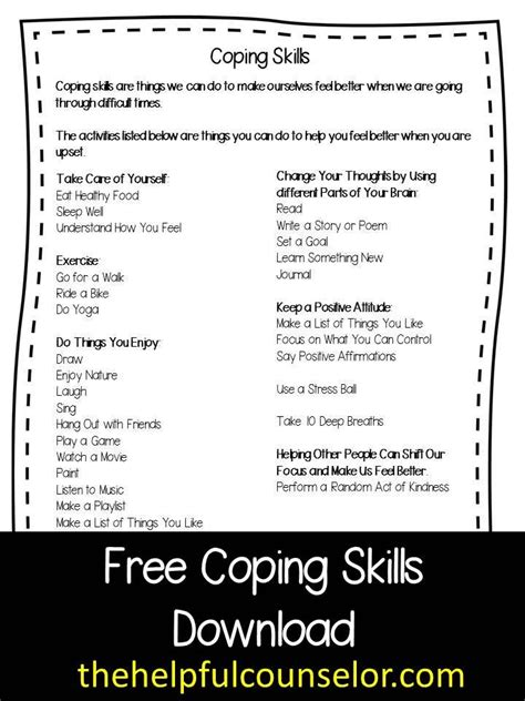 new counseling and activities coping skills freebie discover more ideas about coping