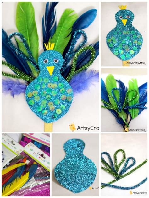 How To Make Peacock Feather With Paper - 17 best ideas about bird crafts on bird crafts