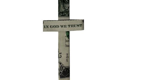 How To Make A Paper Cross - dollar origami cross tutorial how to fold a dollar cross