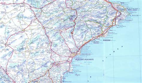 map of alicante area alicante access map size