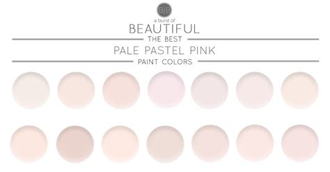 the best pale pink paint colors a burst of beautiful