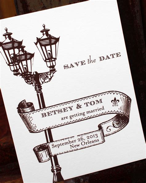 new orleans inspired wedding invitations in the sun