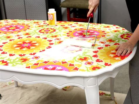 Decoupage Kitchen Table - how to modge podge kitchen table decoupage