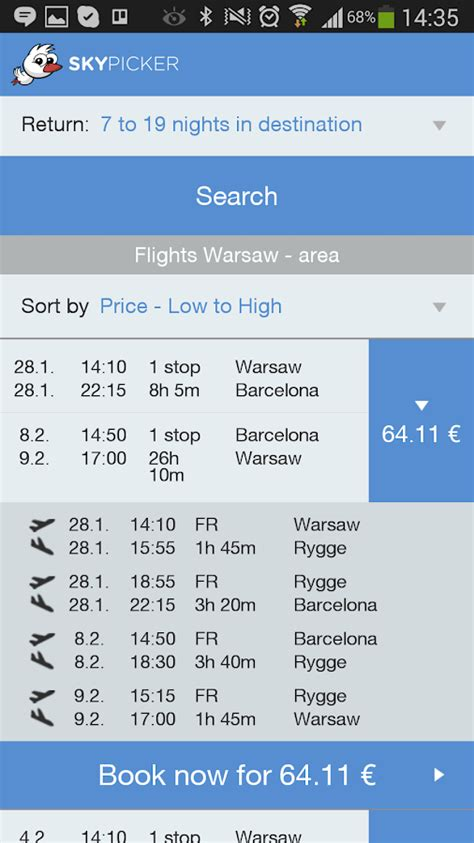 skypicker low cost flights android apps on play