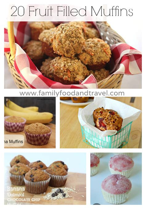 fruit muffins 20 fruit filled muffin recipes family food and travel