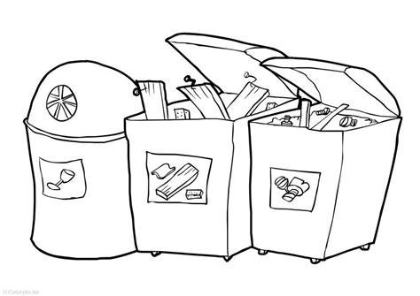dibujos de reciclaje para colorear az dibujos para colorear dibujo para colorear parque de contenedores img 14754