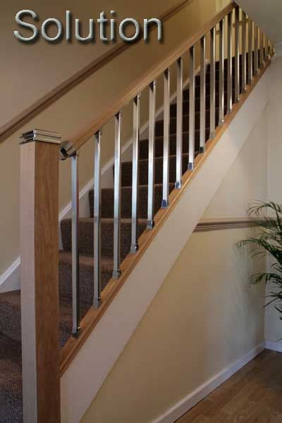 chrome banister rail wooden stair banisters and railings studio design
