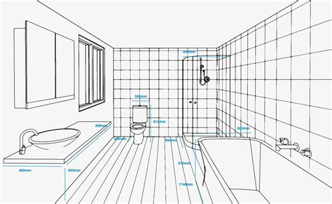 standard bathroom measurements refresh renovations new