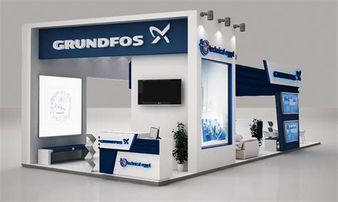 booth layout en francais grundfos booth on behance