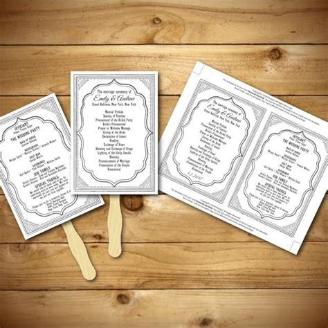 diy wedding fan template free wedding program template printable wedding program diy wedding fan template instant