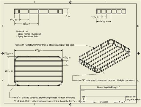 Roof Rack Plans by Building An Inexpensive Cargo Roof Basket