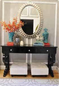 Entrance Table Decor Pin By On Want This Turquoise Turquoise Accents And Light Gray Walls