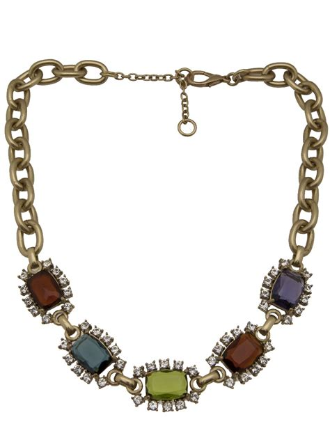 gerard yosca square jewels necklace in metallic lyst