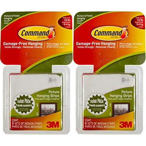command large picture hanging strips white 12 sets of command 3m 12ct pack picture frame hanging strips sets