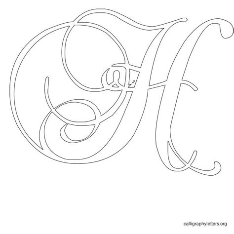 printable calligraphy stencils calligraphy letter stencil h calligraphy fonts fancy